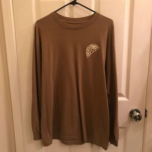 Men's Brown Long Sleeve Active Shirt